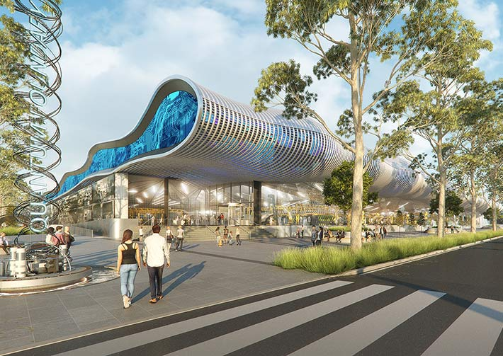 Advanced Manufacturing and research precinct in Aero Core artist impression Cox