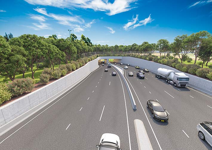 Artist's impression of the M6 motorway.