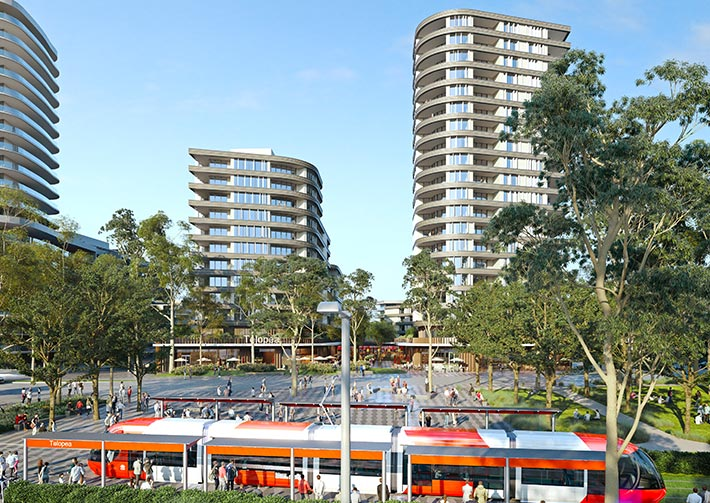 Telopea light rail, New South Wales.