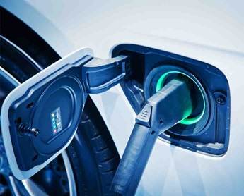 photo of electric car power socket charging