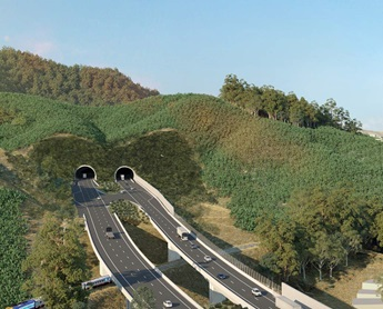 Artist Impression of proposed Shephards Lane tunnel (Coffs Harbour Bypass). Image source: Roads and Maritime Services.
