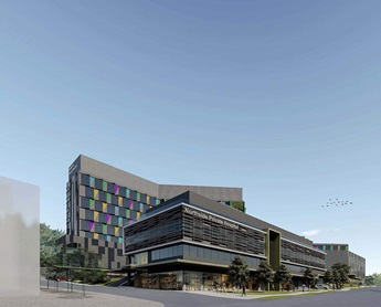 Artist's impression of the new West Gosford private hospital