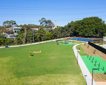 New green space in Homebush. Image: NSW Department of Planning, Industry and Environment