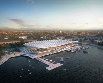 Artist impression of New Sydney Fish Market.