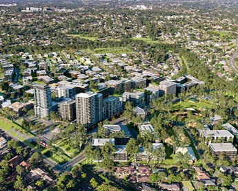 Aerial view of Telopea, New South Wales.