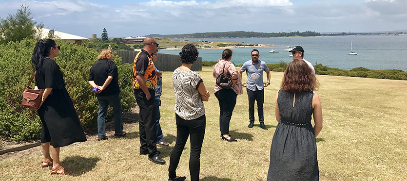 The La Perouse Local Aboriginal Land Council get some outdoor training at the Introduction to the NSW Planning System workshop.