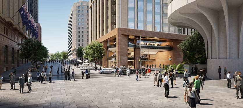 Artist's impression of the Martin Place over station development