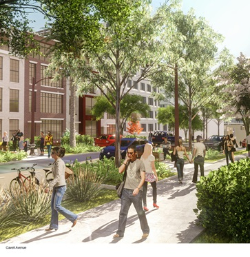 Artists impression of Cavell Avenue character area