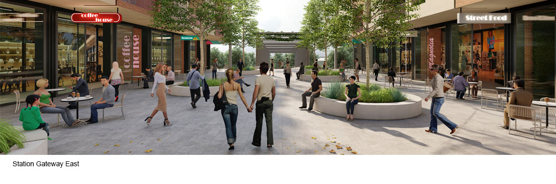 Artists impression of Station Gateway East character area