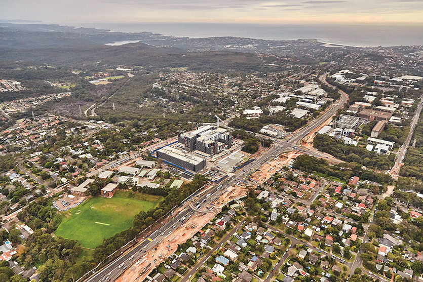 aerial image of Frenchs Forest