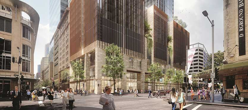 Artist impression of the proposed Pitt Street North Over Station Development Source Sydney Metro