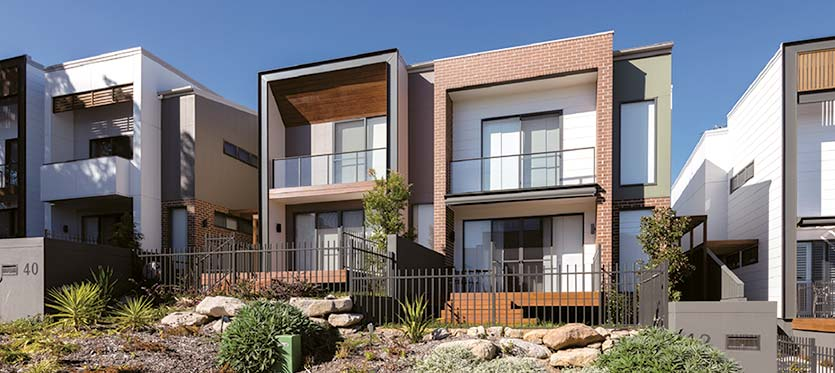 Modern two storey duplex homes