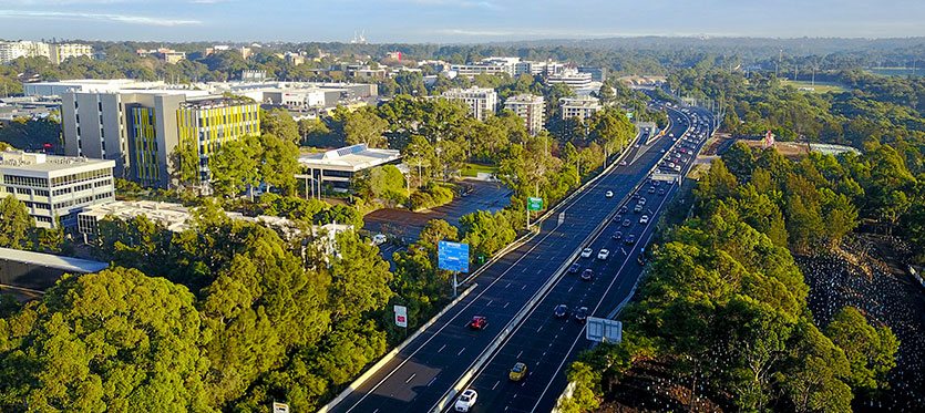 western sydney transport corridor motorway two