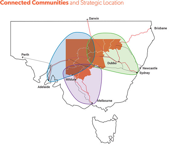 far west vision Connected Communities and Strategic Location map 560x485