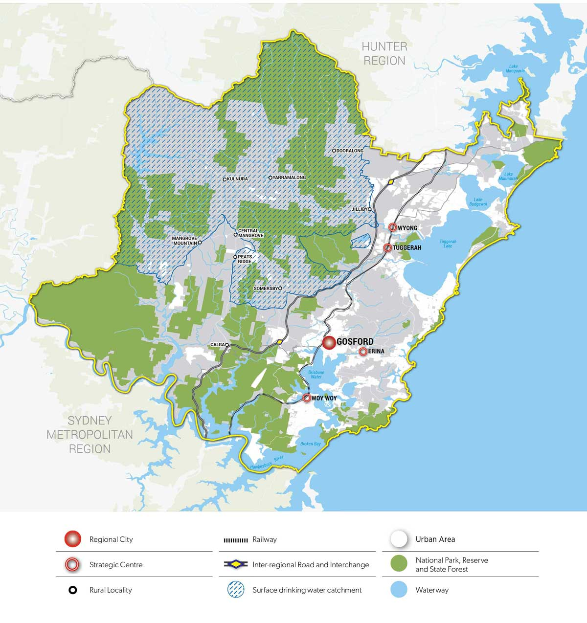Central coast drinking water catchment map
