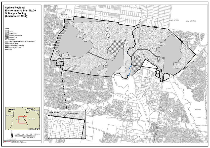 Map srep 30 amendment number 2 for St Marys zoning