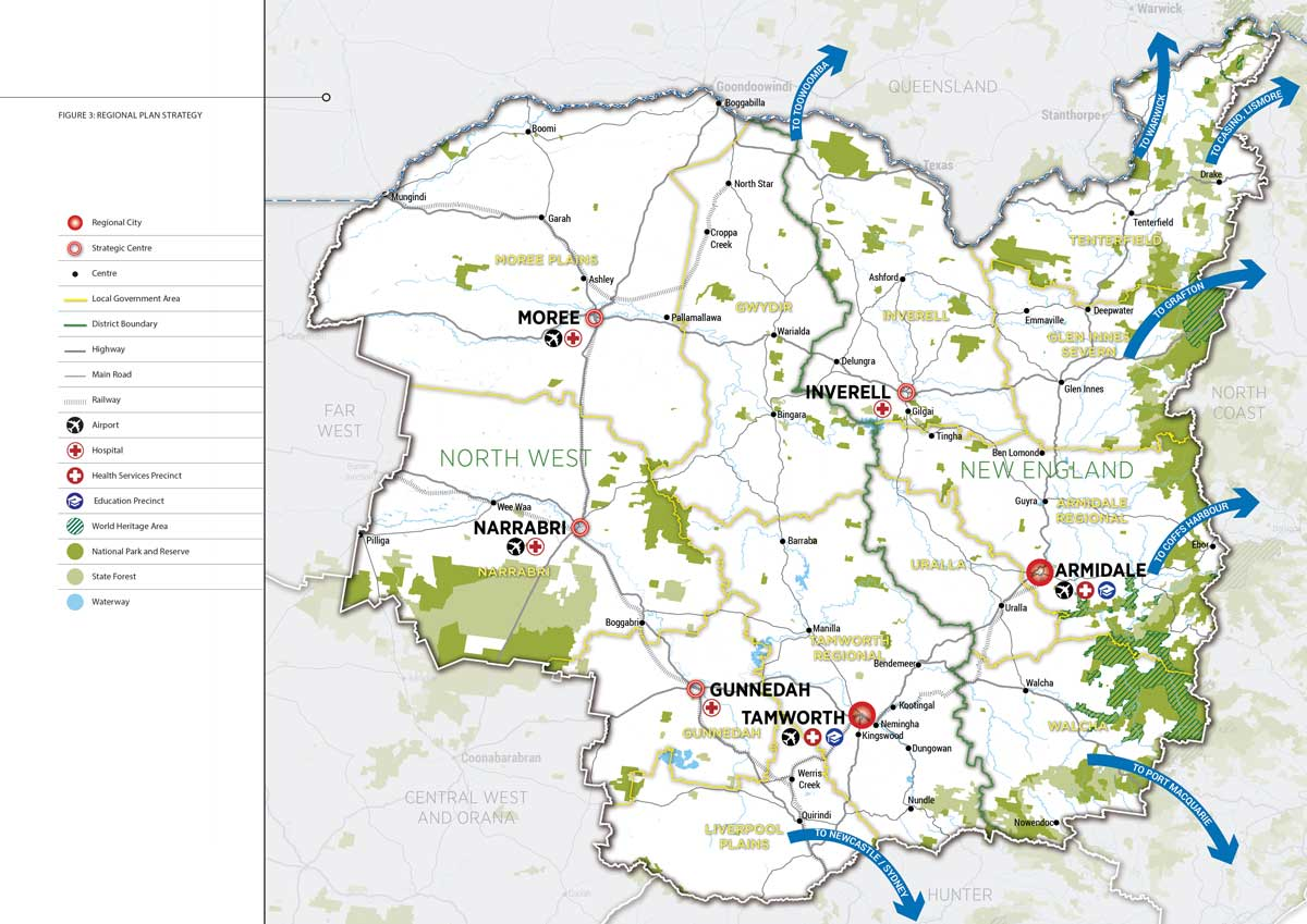 Map Of Nw England.Draft New England North West Regional Plan Vision Department Of