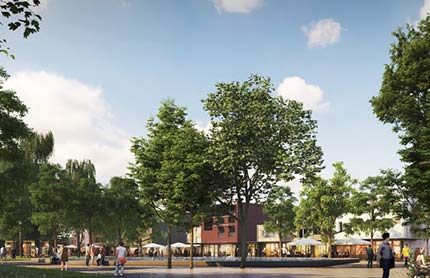 Artist's impression of a St Leonard's Crows Nest street scape