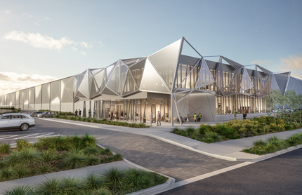 Artists impressions of new buildings in Mamre Road Precinct - Western Sydney Employment Area