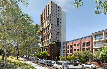 Artist's impression of new Redfern building.