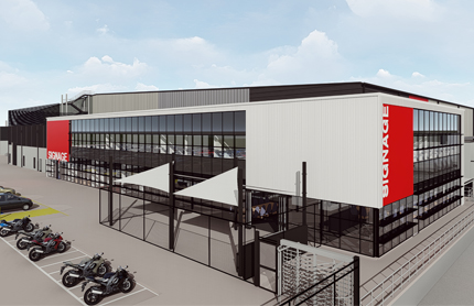 Artists impression of new warehouse for Horsley Drive Business Park in Wetherill Park.