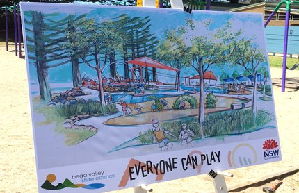 Pictured is the Tathra inclusive play space concept design, revealed today