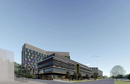 Artist's impression of the new West Gosford private hospital.