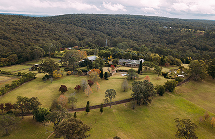 Aerial view of Fernhill Estate.