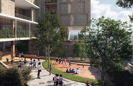 Artist's impression of upgrades to Chatswood Public School.