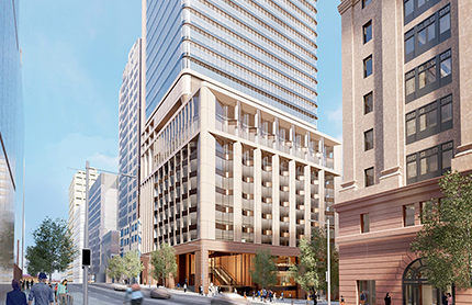 Artist impression of the proposed South Tower from Elizabeth Street. Source: Macquarie Group.