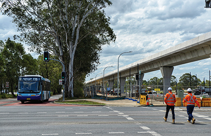 Overbridge construction in Kellyville, North West Sydney, NSW.