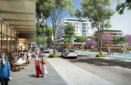 Artist impression of Greater Macarthur main street.